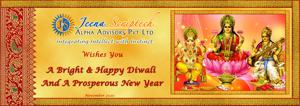 Jeena Scriptech wishes You a Happy Diwali and a Prosperous New Year